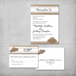 Burlap Wedding Invitation - www.michellejdesigns.com