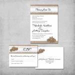 Burlap Wedding Invitation - www.michellejdesigns.com