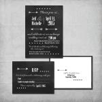 Chalkboard Wedding Invitation Suite - www.michellejdesigns.com