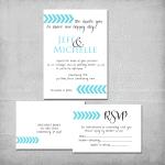 Chevron Wedding Invitation Suite - www.michellejdesigns.com