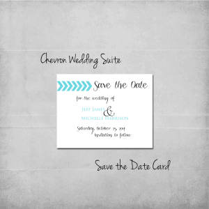 Chevron Save the Date - www.michellejdesigns.com