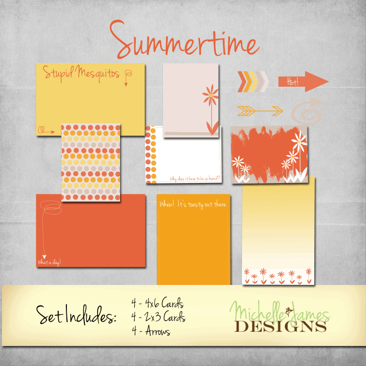 Summertime Kit for Project Life/Pocket Pages - www.michellejdesigns.com