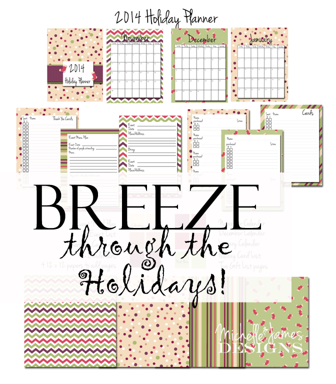 Breeze Through the Holidays Planner