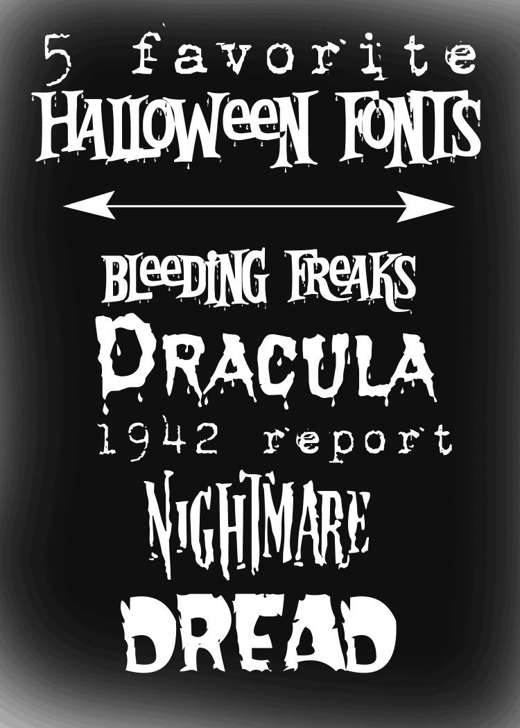 My Five Favorite Halloween Fonts | Michelle James Designs