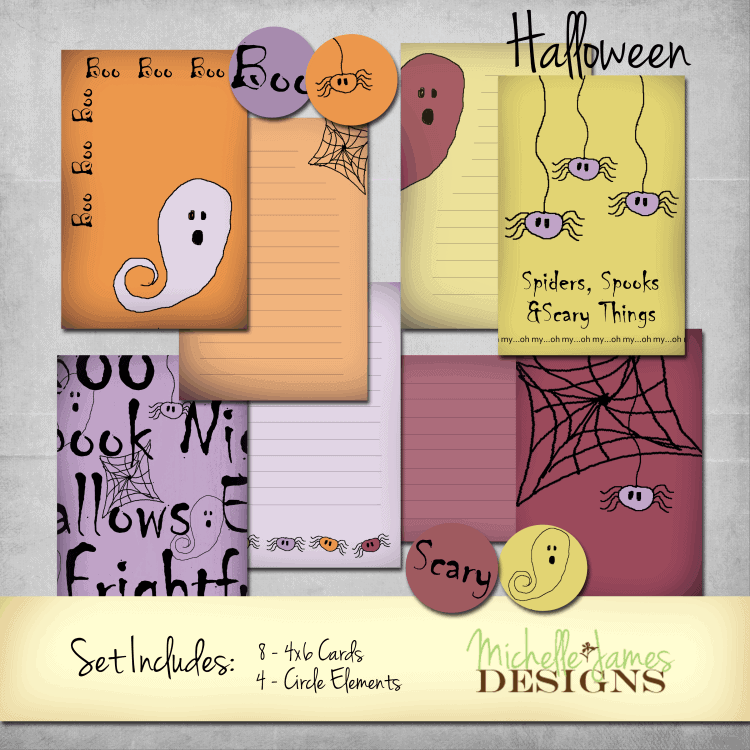 Halloween Kit for Project Life Pocket Pages - www.michellejdesigns.com