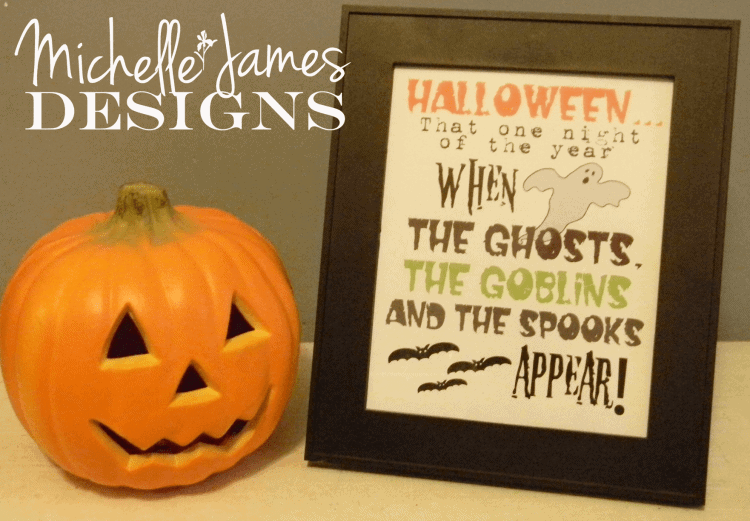 Free Halloween Printable from Michelle James Designs