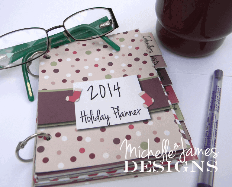 Stay organized this Holiday Season - 2014 Holiday Planner -Digital Download $4.99 - https://michellejdesigns.com - #organized, #holidays, #planners
