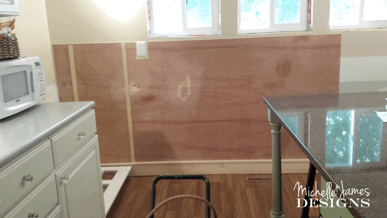 Kitchen remodel - board and batten - www.michelle jdesigns.com