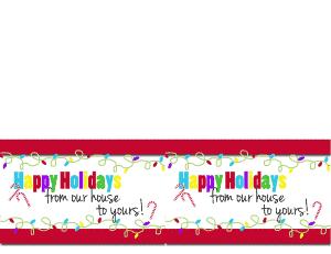 Happy Holidays Card 2 per page - www.michellejdesigns.com