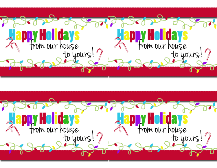 Happy Holidays Front directions sheet