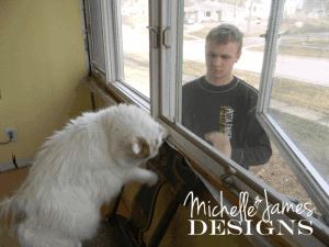 Removing the window - www.michellejdesigns.com - #kitchenremodel