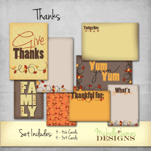 MJD - Thanks Project Life Kit - www.michellejdesigns.com