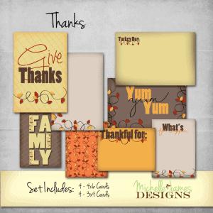 MJD - Thanks Project Life Kit - www.michellejdesigns.com