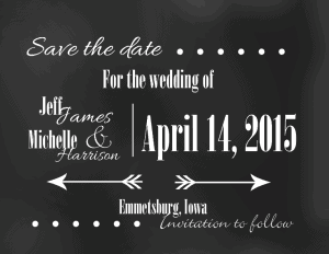 Save the Date Card - www.michellejdesigns.com