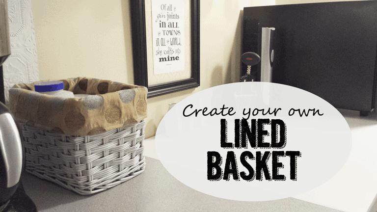 Lined Basket - www.michellejdesigns.com