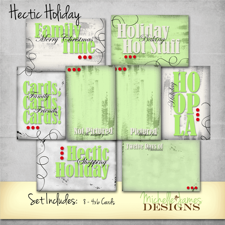 Hectect Life Project Life Pocket Pages - www.michellejdesigns.com - journal cards and filler cards for scrapbooking those hectic holiday times