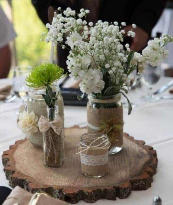 Blue Mason Jars Wedding Ideas: Mason Jar DIY Wedding Ideas