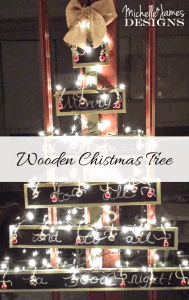 Wooden Christmas Tree With Chalkboard Pieces - www.michellejdesigns.com