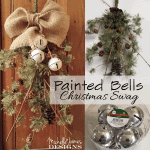 Christmas Swag With Painted Bells