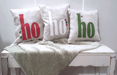 Holiday Decor Ho Ho Ho Pillows
