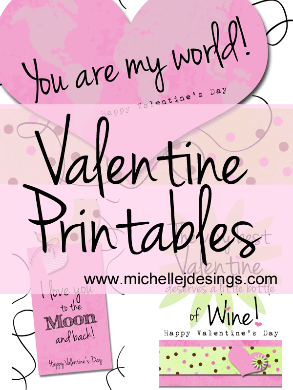Valentine Printables Freebie - www.michellejdesigns.com