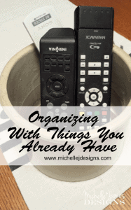 Organizing - Simple Things - www.michellejdesigns.com