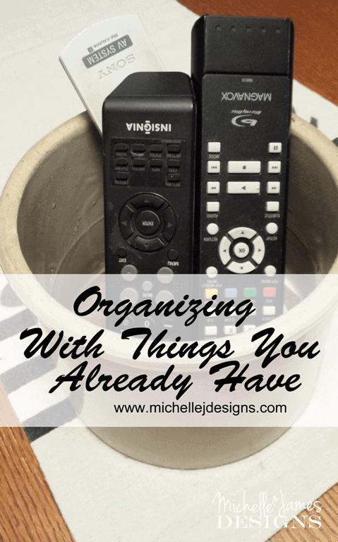 Organizing - Simple Things - www.michellejdesigns.com