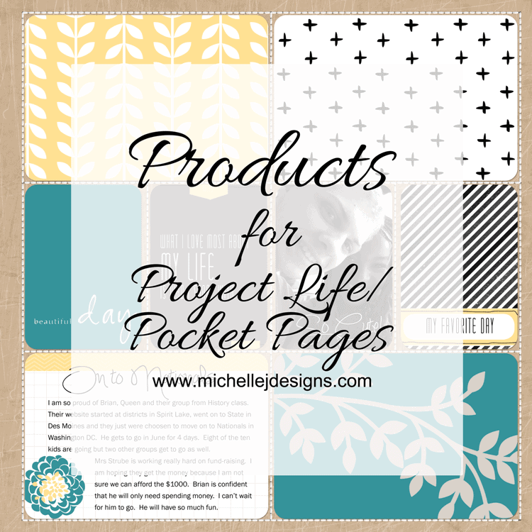 Products for Project Life/Pocket Pages - www.michellejdesigns.com