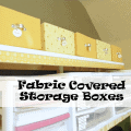 Organizied - Fabric Covered Boxes - www.michellejdesigns.com
