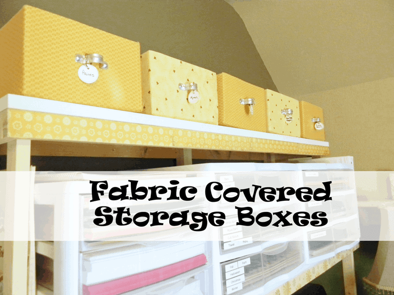 Organizing - Fabric Covered Boxes - www.michellejdesigns.com