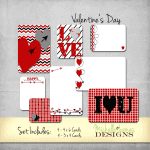 Valentine's Day Kit for Projcet Life Pocket Pages - www.michellejdesigns.com