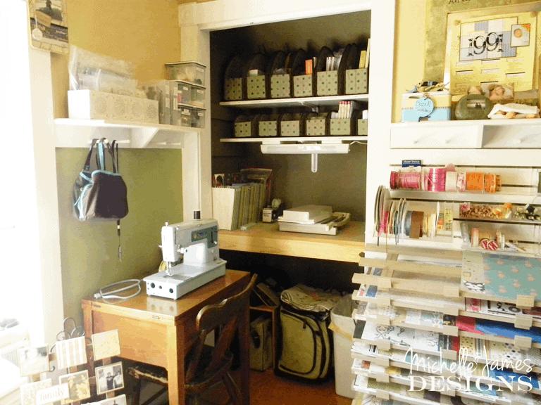Organizing - Craft Room - www.michellejdesigns.com