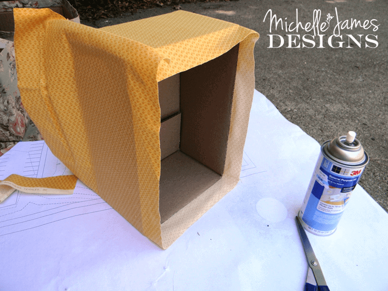 Organized - Fabric Covered Boxes - www.michellejdesigns.com