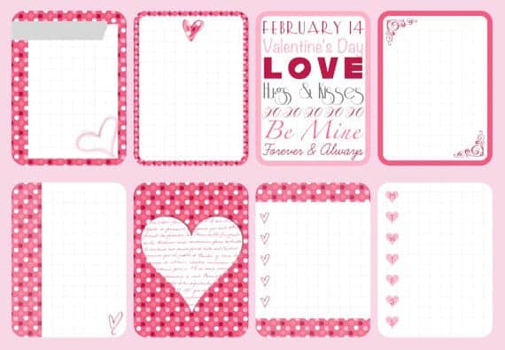 Valentines Day Project Life Round up - www.michellejdesigns.com