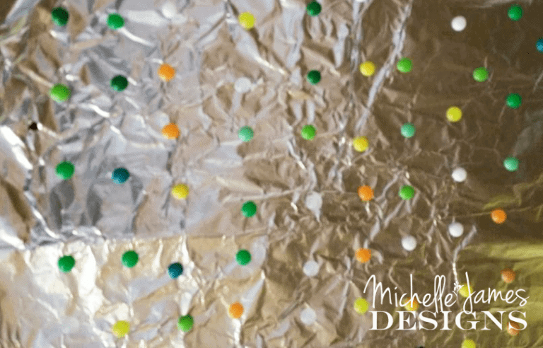Baked Perler Beads - DIY Embellishments - www.michellejdesigns.com - These Perler Beads are fun to bake in the oven and use as embellishments on scrapbook pages and other crafty projects!