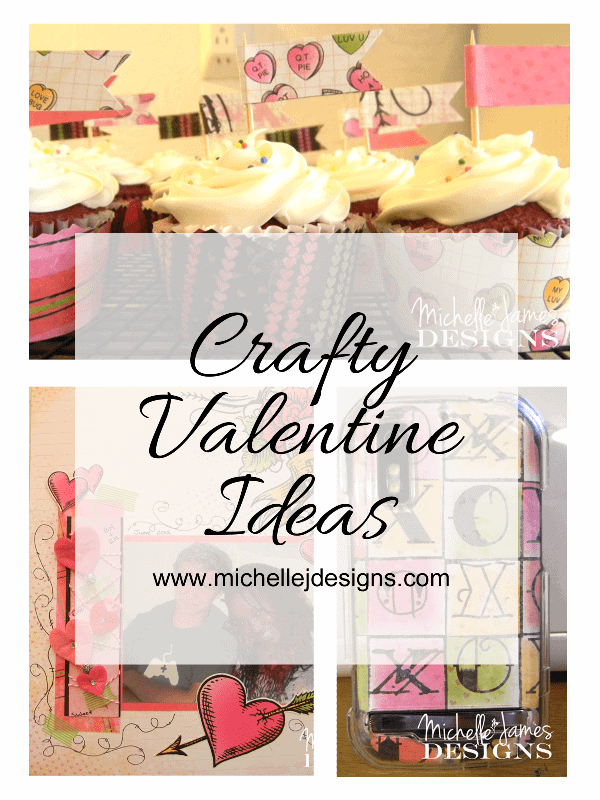Some really fun crafty Valentine Ideas to make at home - www.michellejdesigns.com #Valentine