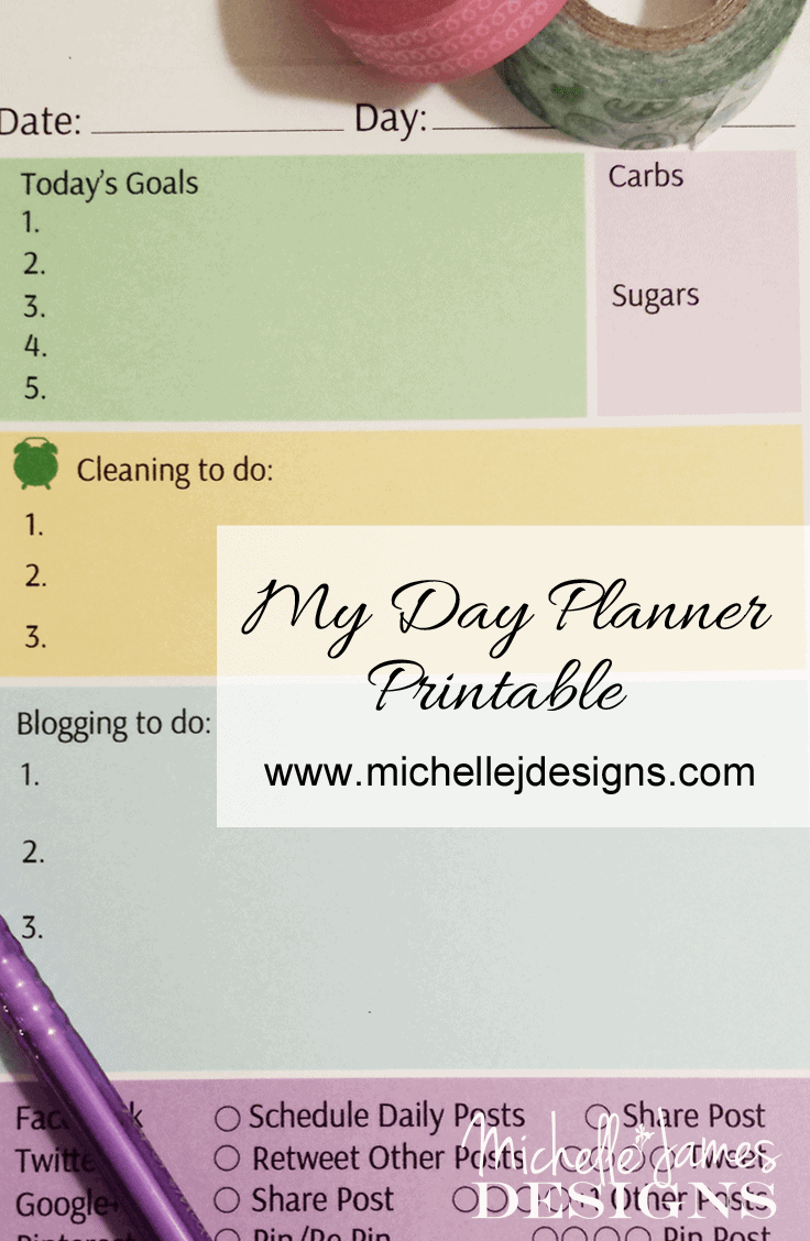 Day Planner - www.michellejdesigns.com