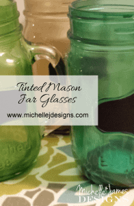 Tinted Mason Jar Glasses - www.michellejdesigns.com