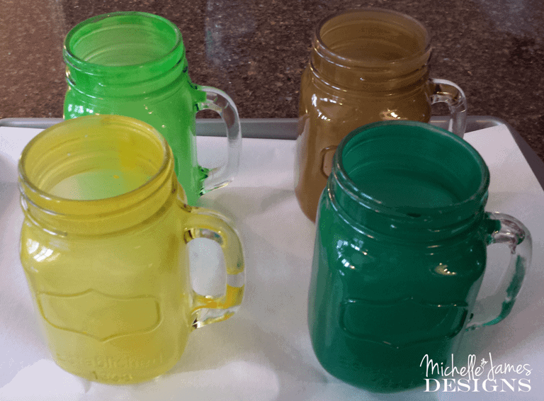 Tinted Mason Jar Glasses - www.michellejdesigns.com