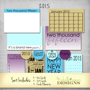 January New Year 2015 Kit - www.michellejdesigns.com