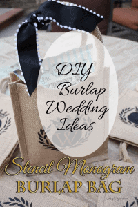 DIY Burlap Wedding Ideas - www.michellejdesigns.com