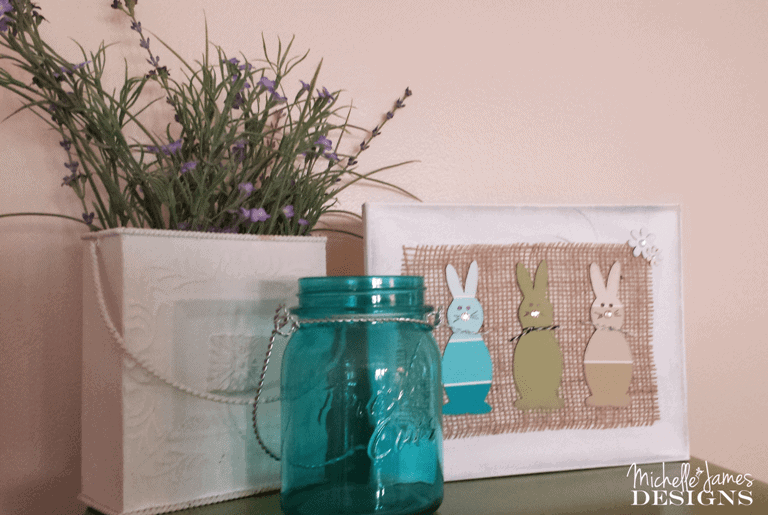 Paint Chip Bunny Canvas - www.michellejdesigns.com
