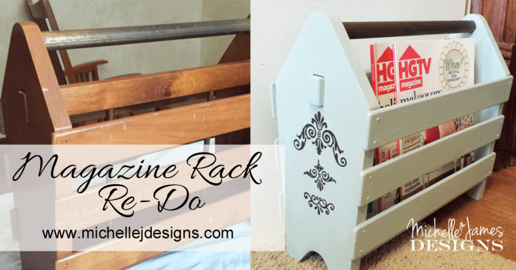 Magazine Rack Re-Do - www.michellejdesigns.com