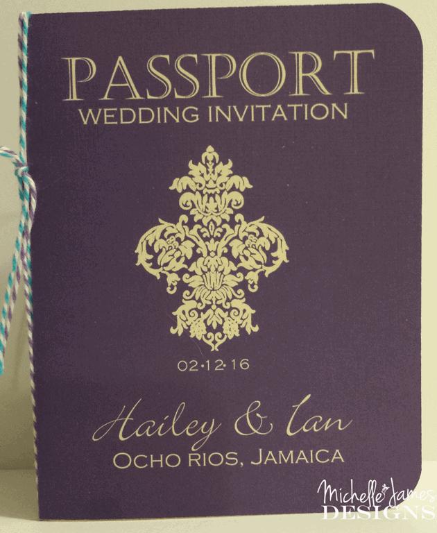 Passport Wedding Invitation - www.michellejdesigns.com