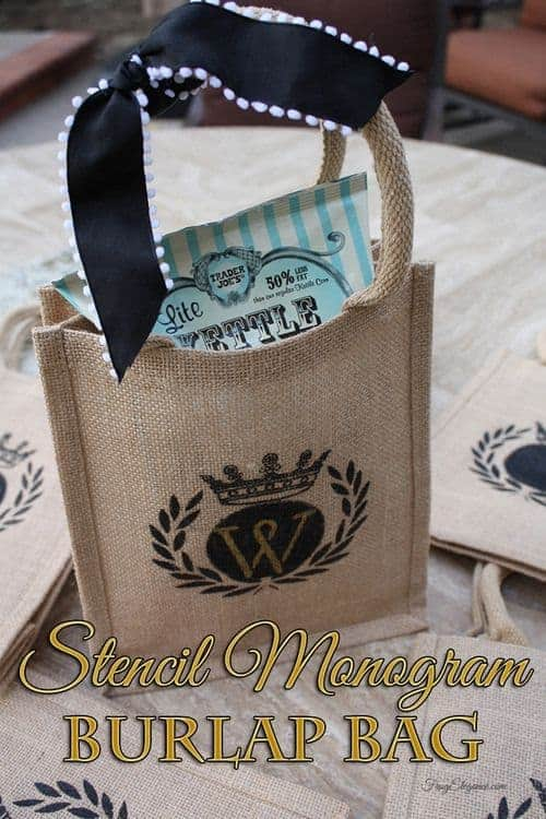 Diy burlap wedding ideas michelle james designs for Burlap bag craft ideas