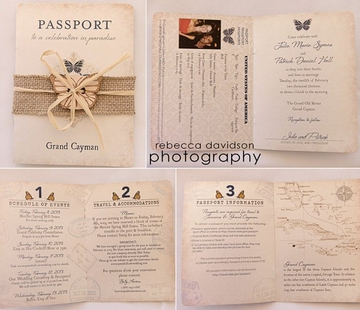 Passport Wedding Invitations - www.michellejdesigns.com