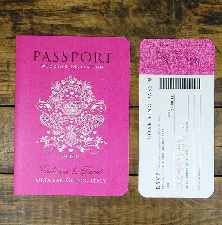 Passport Wedding Invitation - www.michellejdesigns.com