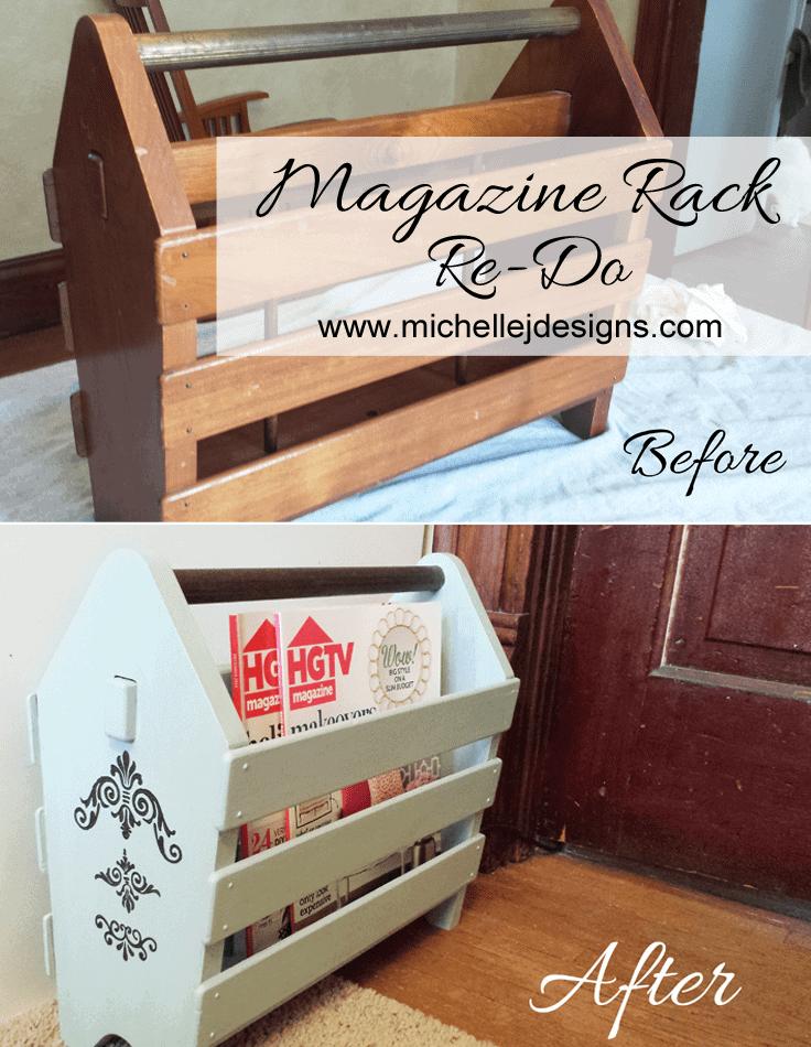Magazine Rack Re-Do - www.michellejdesigns.com