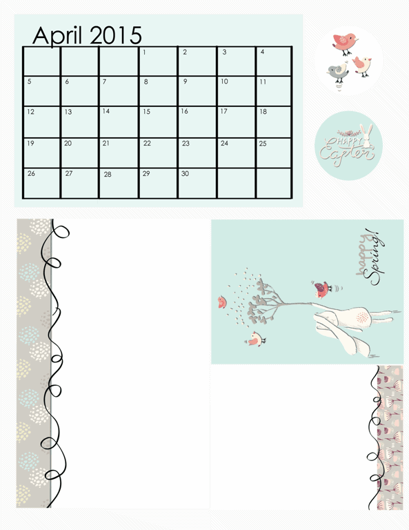 April 2015 Freebie Kit - www.michellejdesigns.com