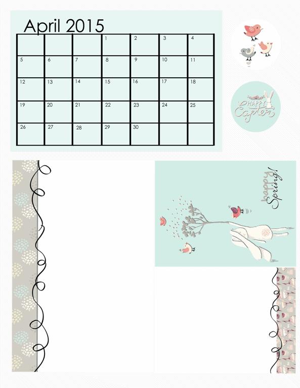 April 2015 Freebie Kit - www.michellejdesigns.com